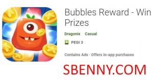 پاداش حباب - جوایز برنده + MOD