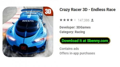 Crazy Racer 3D - Razza bla tmiem + MOD