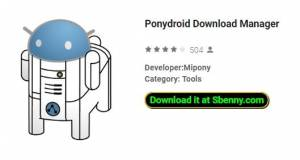 Download Manager di Ponydroid