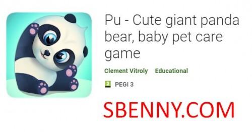 Pu - милая гигантская панда, игра по уходу за маленькими питомцами + MOD