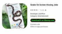 Schlange auf dem Bildschirm Zischen Joke + MOD