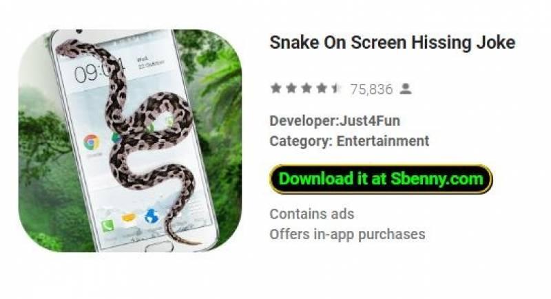Snake On Screen Hissing Joke + MOD