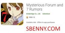 Forum mystérieux et rumeurs 7 + MOD