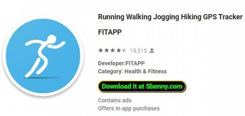 Запуск Walking Jogging Hiking GPS Tracker FITAPP + MOD