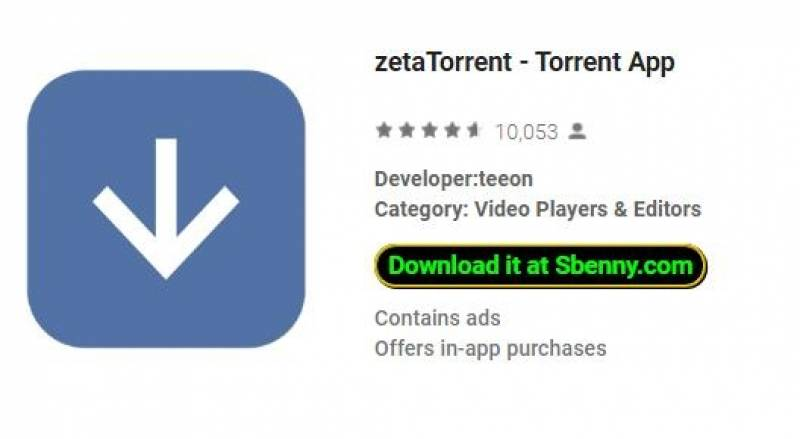 zetaTorrent - Torrent App + MOD