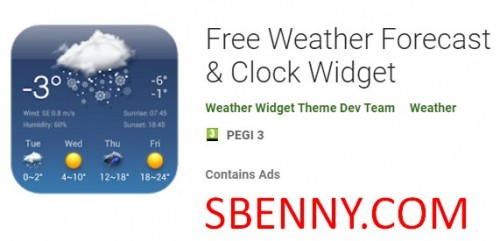 Free Weather Forecast & Clock Widget + MOD