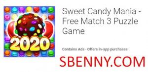 Sweet Candy Mania - Бесплатная игра-головоломка 3 в ряд + MOD