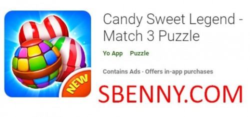 Candy Sweet Legend - Match 3 Puzzle + MOD