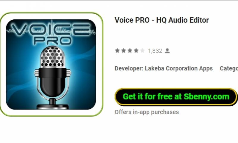 Voice PRO - HQ Awdjo Editur