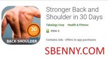 Dos et épaules plus forts dans 30 Days + MOD