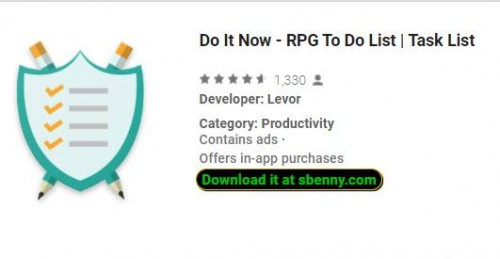 Do It Now - RPG To Do List | Task List + MOD