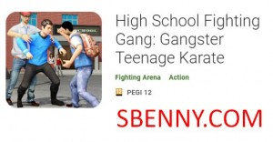 High School Fighting Gang: Gangster Teenage Karate + MOD