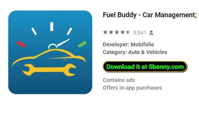 Fuel Buddy - Car Management; Fuel and Mileage Log + MOD