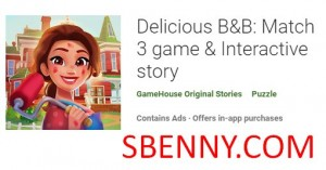 Delicious B&B: Match 3 game & Interactive story + MOD