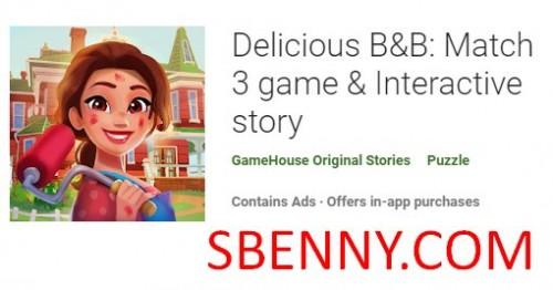 Вкусная игра B & B: Match 3 & amp; Интерактивная история + MOD