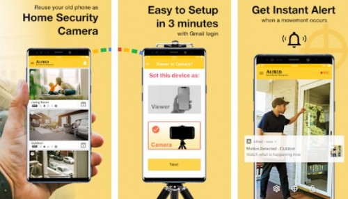 alfred home security camera premium apk