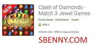 Clash of Diamonds - матч 3 Jewel Games + MOD