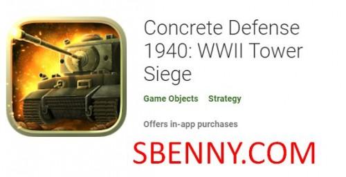 Concrete Defense 1940: Belagerung des zweiten Weltkrieges