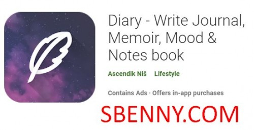 Diary - کتاب مجله ، خاطرات ، حالت و یادداشت ها + MOD را بنویسید