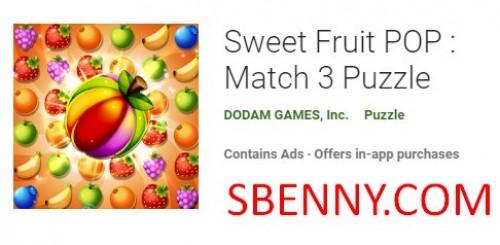 POP Fruit Sweet: Match 3 Puzzle + MOD