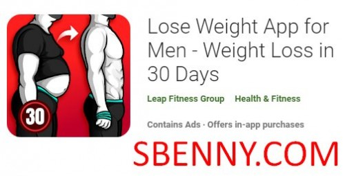 Lose Weight App for Men - Weight Loss in 30 Days + MOD
