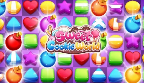 Sweet Cookie World: Match 3 Puzzle + MOD