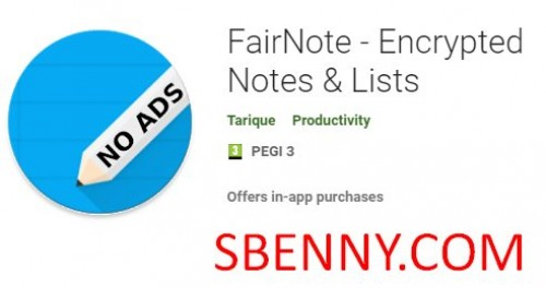 FairNote - یادداشت ها و لیست های رمزگذاری شده + MOD