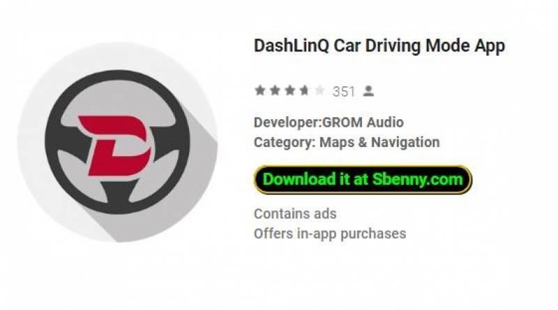 Приложение DashLinQ для управления автомобилем App + MOD