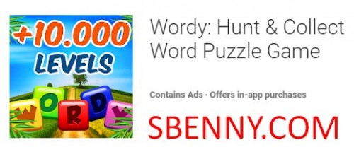 Wordy: Hunt & amp; Colleziona Word Puzzle Game + MOD