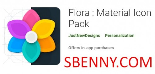 فلورا: Material Icon Pack + MOD