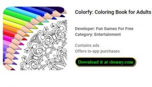 Colorfy: Livre de coloriage pour adultes - Gratuit + MOD