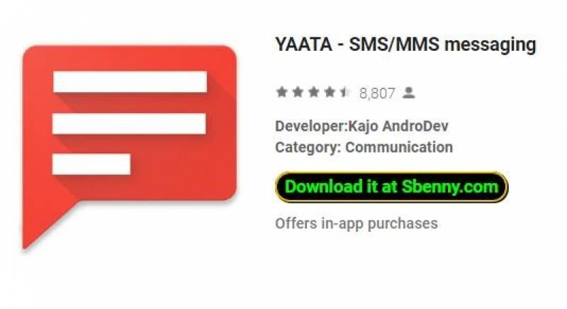 YAATA - SMS/MMS messaging + MOD