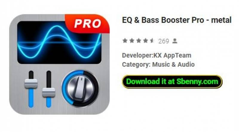 EQ y amp; Bass Booster Pro - metal