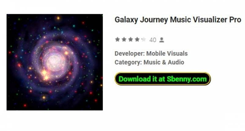 Galaxy Journey Music Visualizer Pro
