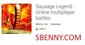 Sausage Legend - Batailles multijoueurs en ligne + MOD