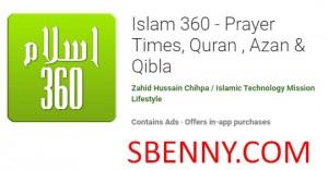 Islam 360 - Horaires des prières, Coran, Azan & amp; Qibla + MOD