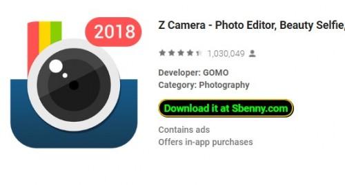 Z Camera - Редактор фотографий, Beauty Selfie, Коллаж + MOD