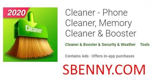 Cleaner - Limpiador de teléfono, limpiador de memoria y amplificador; Booster + MOD