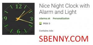 Хорошие ночные часы с будильником и светом + MOD