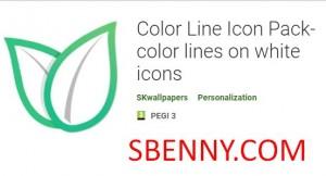 Color Line Icon Pack - خطوط رنگی روی آیکون های سفید + MOD
