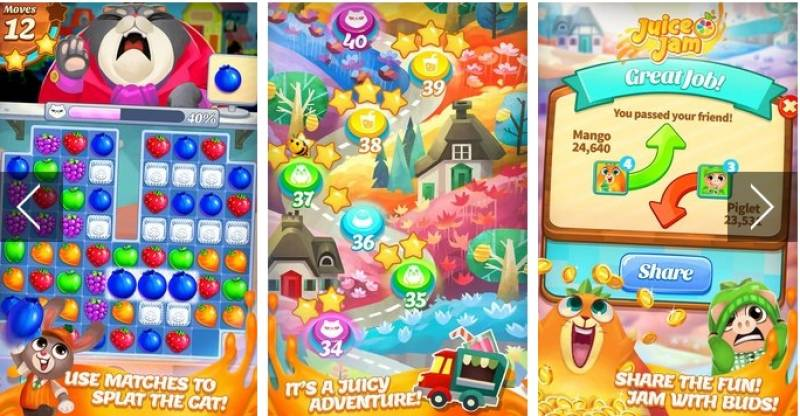 Juice Jam - Puzzle Game & amp; Juegos Match 3 gratuitos + MOD
