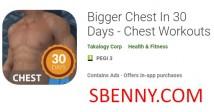 Plus grand coffre en jours 30 - séances d'entraînement de la poitrine + MOD
