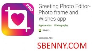 Gruß Photo Editor-Fotorahmen und Wünsche App