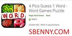 4 fotos Guess 1 Word - Juegos de palabras Puzzle + MOD