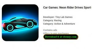 Автомобильные игры: Neon Rider Drives Спортивные автомобили + MOD