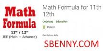 Formule mathématique pour le 11e 12e + MOD