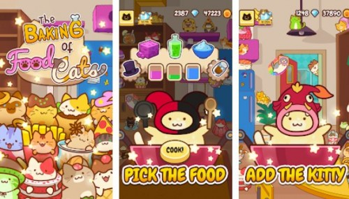 Baking of: Food Cats - Cute Kitty Collecting Game + MOD
