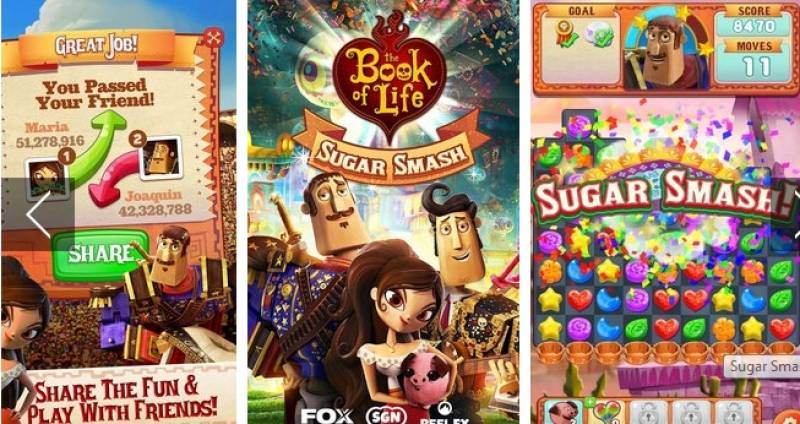Sugar Smash: Book of Life - Free Match Logħob 3 + MOD