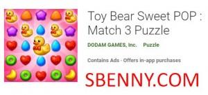 Toy Bear Sweet POP: Match 3 Puzzle + MOD