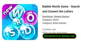 Bubble Words Game - Buscar y conectar las letras + MOD